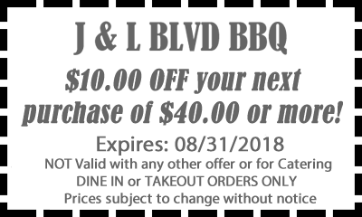 Coupon Barbeque Restaurant 10 dollars of purchase of 40 dollars or more!